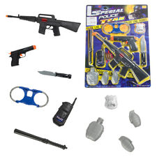 Military Rifle Toy Gun Police Pretend Play Set For Children Kids Christmas Gift
