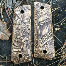 1911 Full Size Government Wood Grips - Mushrooms