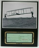 Orville Wright Reproduction Signed Check Display