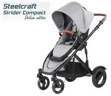 Br New Steelcraft Strider Compact Deluxe Edition Stroller Pram Grey Linen