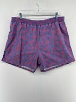 vtg 80s 90s Pacific Scene Purple Blue Mandala Teardrop Swim Shorts Men's Large