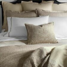 $430+tax Ralph Lauren BRANTLEY MARYLEBONE KING Comforter Cotton Percale Brown