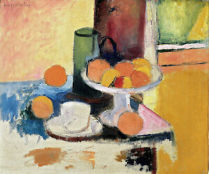"Still Life with Oranges 1899 Signed Henri Matisse - 17""x22"" Fine Art Print-01371"