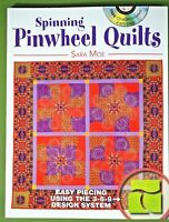 Spinning Pinwheel Quilts book with CD Sara Moe Krause Publications new