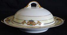 Pirkenhammer Czechoslovakia Round Butter Dish Pattern #6654