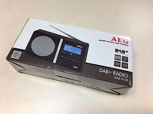 DAB RDS FM Radio AEG DAB 4138 portable PLL tuner with LCD display