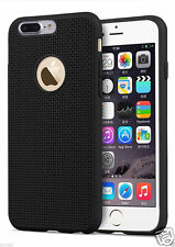 Apple iPhone 7 Plus -Perfect Fit Net Black Rubber Soft Silicone Back Cover case