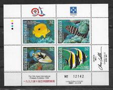 MICRONESIA , 1996 , 10TH PHILATEIC EXPO , SHEET OF 4 ,  PERF, MNH , CV$16.00