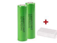 2x LG INR18650-MJ1 3500mAh 10A 3,7V Lithium Ionen Akku + Akku-Schutzbox 2er-SET