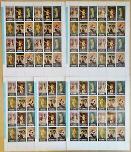 E838. 5x Ajman - MNH - Art - Paintings - Full Sheet