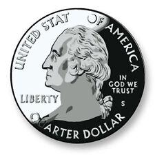 Magnet Aimant Frigo Ø38mm  Image Dollar Monnaie USA Coin Piece Currency Money