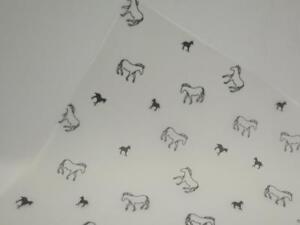 25 x Printed Vellum Translucent A4 115gsm Paper - Black Horses JLH107
