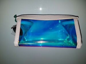 Saturday Skin Clear Iridescent Makeup Bag With Candy Charms -- New Without Tags
