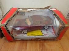 BURAGO 1/18 CLASSIC PORSCHE 911 TURBO MET RED DIECAST MODEL CAR