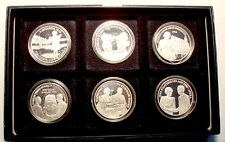 NETHERLANDS BEATRIX 6 UNC SILVER PROOF MEDALS in Box 38.6mm 22g