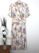 Vintage Women's 50s Dress Housewife Faux Wrap Floral