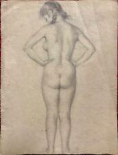 Vladimir V. Lebedev; Original Russian Pencil Drawing of Nude from Back, c. 1925