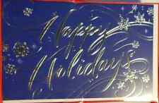 Hallmark Happy Holiday Card With Message Inside 40 Cards 40 Envelopes (LOC ECC)