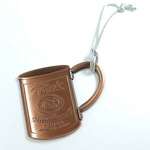 Tito's Handmade Vodka Collectible Copper Mug Hanging Ornament Open Box