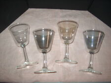GLASSES MARTINI/WINE SET OF (4) MATCHING W/DIFFERENT COLORS (SMOKE), (GOLDEN), (