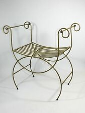 Vintage Metal Vanity Chair Hollywood Regency