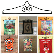 Accessories Garden Flag Stand Iron Holder Indoor Outdoor Yard Home Decor Banner