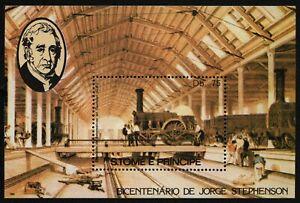 São Tomé & Príncipe 1982 - Mi-Nr. Block 113 A ** - MNH - Eisenbahn / Trains