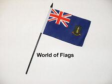 "BRITISH VIRGIN ISLANDS SMALL HAND WAVING FLAG 6"" x 4"" Crafts Table Desk Display"