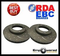 DIMPLED & SLOTTED FRONT DISC BRAKE ROTORS for Mercedes W114/W115 1971-74 RDA252D