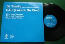 "DJ Tiesto 643 (Love's On Fire) 3 Mixes VCRT106 12"" Single"