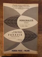 "SPARTITO VALENTE ""PERSONALITA' "" + FONTANA ""PARADIS"""