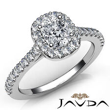 Cushion Diamond Shared Prong Set Engagement Ring GIA F VS2 18k White Gold 0.85Ct