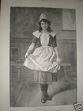The New Girl by G A Storey 1891 print
