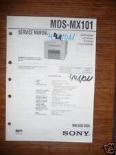 Service Manual Sony mds-mx101 Mini Disc Deck, Original