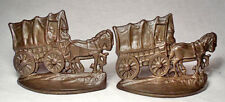 Covered Wagon/Mint circa 1930 Cast Iron Antique Bookends by the CT Foundry
