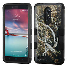 For ZTE Phone TUFF Hybrid ShockProof DualLayer Rubber Protective Hard Case Cover