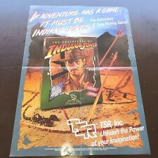 Indiana Jones RPG TSR Roleplaying Game Promotional Poster 1984