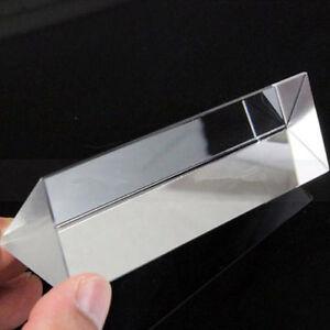 Physics Optical Glass Triangular Prism School Educational Teaching Aids UK
