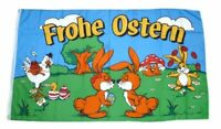 Flagge / Fahne Frohe Ostern Osterhasen Hissflagge 90 x 150 cm