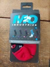 M2O BAND CREW COMPRESSION SOCKS black/red medium