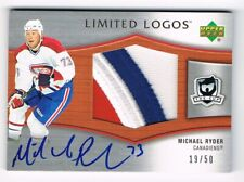 2005-06 The Cup Limited Logos Autograph PATCH LL-RY Michael Ryder 19/50  3 COLOR