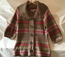 Old Navy Cardigan Sweater. Pink, Green & Beige Stripe. Size Medium. NWT.