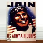 "Vintage War Propaganda Poster Art ~ CANVAS PRINT 8x12"" US Army Air Corps"