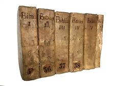 Libro Bibbia Completa Biblia Sacra Vulgatæ Editionis Sixti V Pont. Pezzana 1714
