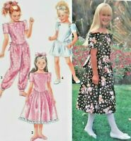 1992 Simplicity Sewing Pattern 7746 Girls Romper 2 Styles Dress Size 12-14 6388F