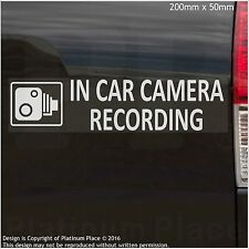 1 x EXTERNAL- In Car Camera Recording Stickers -CCTV Sign-Van,Lorry,Taxi,Minicab