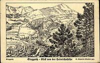 Gloggnitz Niederösterreich AK ~1920/30 Blick von der Heinrichshöhe Zeichnung