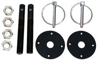Black Hood Pin Kit Flip-Over Style Universal for Chevy Ford Mopar  FREE SHIPPING