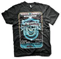 L.A. Guns Sunset Strip Poster Hard Rock Musik Club Männer Men T-Shirt Schwarz