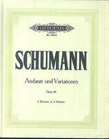 Schumann : Andante und Variationen Opus 46 für 2 Klaviere zu 4 Händen
